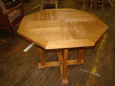 "40"" Octagon Teak Table"