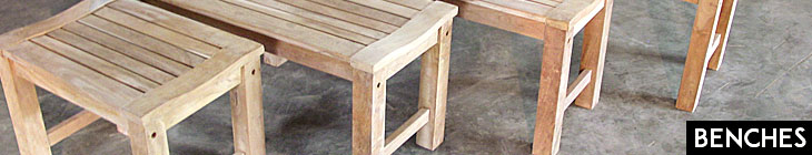 Teak Closeouts Backless Benches