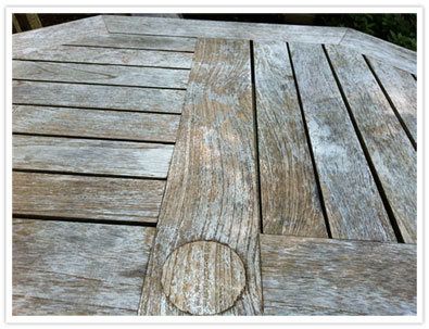 Weathered Teak Table and Chairs